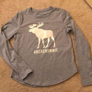 Abercrombie kids sparkle moose shirt
